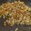 Root veggie hash with radish sprouts