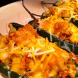 Spicy stuffed poblano peppers