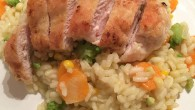 Chicken and rice with summer vegetables